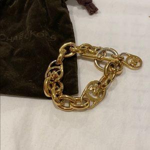 MK gold toggle bracelet